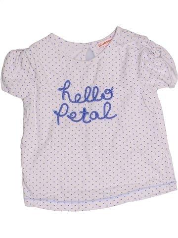 T-shirt manches courtes fille BLUEZOO blanc 3 ans été #1357164_1