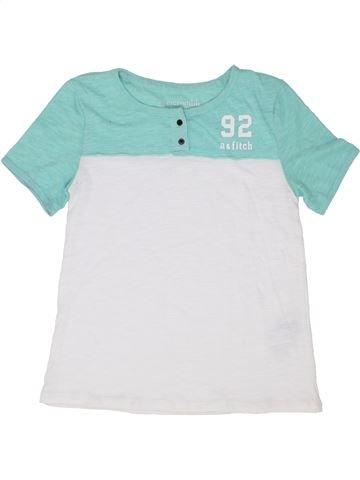 T-shirt manches courtes garçon ABERCROMBIE ET FITCH blanc 14 ans été #1358573_1