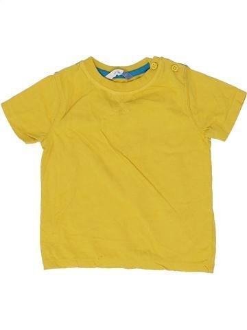 T-shirt manches courtes garçon JOHN LEWIS jaune 2 ans été #1359055_1