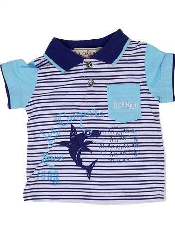 Polo manches courtes garçon LEE COOPER bleu 3 mois été #1359605_1