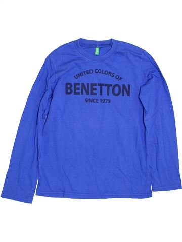 Camiseta de manga larga niño BENETTON azul 8 años invierno #1359916_1