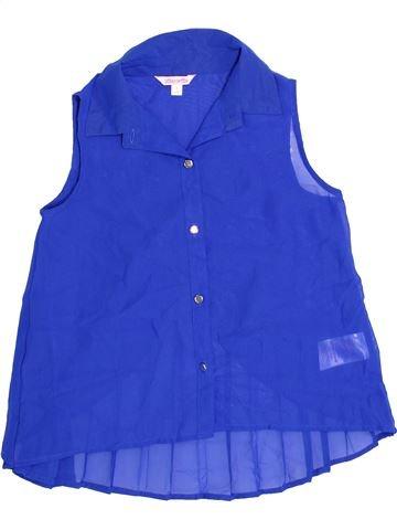 Blusa de manga corta niña MISS E-VIE azul 9 años verano #1360013_1