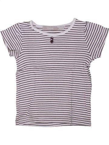 T-shirt manches courtes fille 3 SUISSES blanc 5 ans été #1361001_1