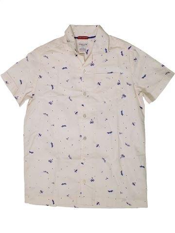 Camisa de manga corta niño CYRILLUS blanco 12 años verano #1361439_1