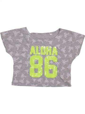 T-shirt manches courtes fille DEBENHAMS gris 6 ans été #1361609_1
