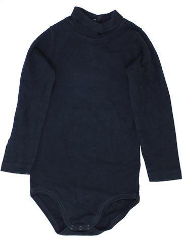 T-shirt col roulé garçon PETIT BATEAU bleu foncé 3 ans hiver #1362207_1