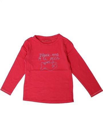 T-shirt manches longues fille WEEK END A LA MER rose 4 ans hiver #1362243_1