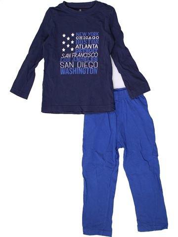 Pijama de 2 piezas niño LA REDOUTE CRÉATION azul 3 años invierno #1362815_1