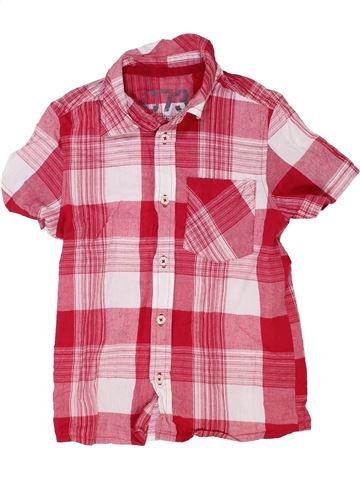 Chemise manches courtes garçon CHEROKEE rose 8 ans été #1363398_1