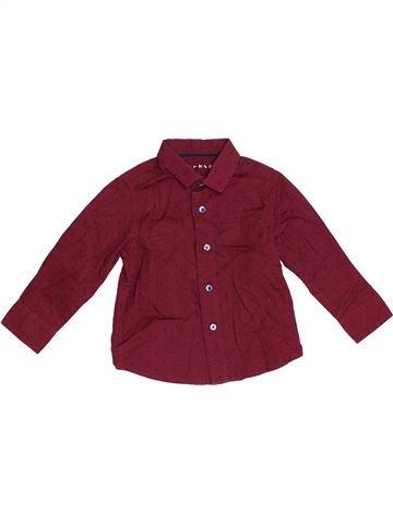 Chemise manches longues garçon NUTMEG rouge 2 ans hiver #1364160_1
