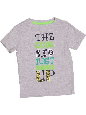 T-shirt manches courtes garçon NUTMEG blanc 3 ans été #1364379_1