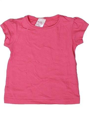 T-shirt manches courtes fille E-VIE ANGEL rose 2 ans été #1364942_1