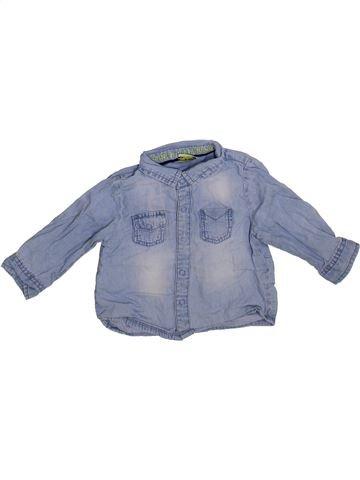 Chemise manches longues garçon TAPE À L'OEIL bleu 9 mois hiver #1365376_1