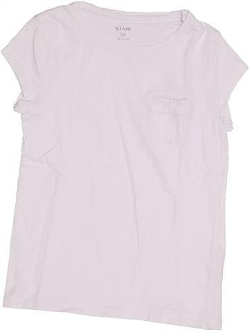 T-shirt manches courtes fille KIABI blanc 5 ans été #1365716_1