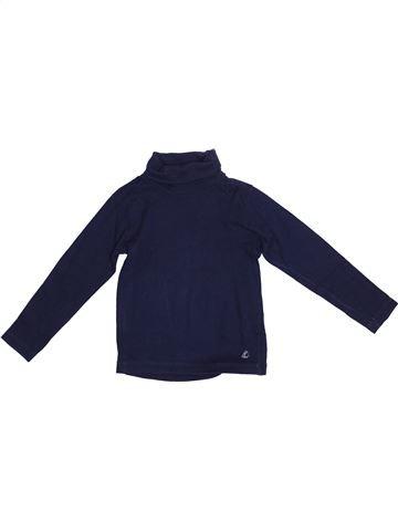 T-shirt col roulé fille PETIT BATEAU bleu 5 ans hiver #1365842_1