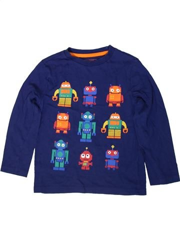 T-shirt manches longues garçon F&F bleu 5 ans hiver #1365935_1