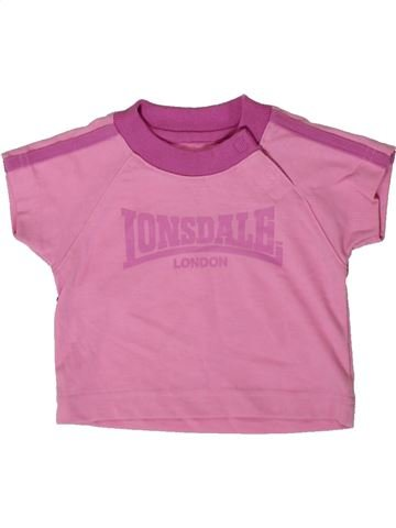 T-shirt manches courtes fille LONSDALE rose 3 mois été #1366039_1
