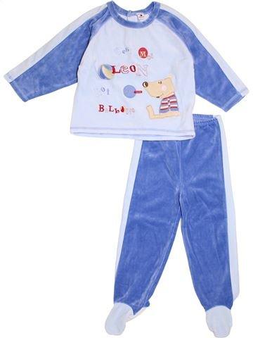 Pyjama 2 pièces garçon ABSORBA bleu 2 ans hiver #1366289_1