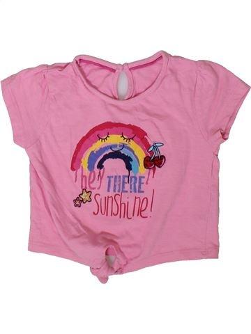 Camiseta de manga corta niña MATALAN rosa 2 años verano #1366326_1