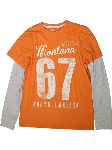 T-shirt manches longues garçon F&F blanc 13 ans hiver #1366461_1