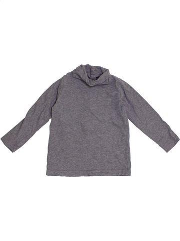 T-shirt col roulé garçon BOUT'CHOU gris 2 ans hiver #1366507_1