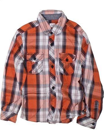 Chemise manches longues garçon F&F marron 7 ans hiver #1366603_1