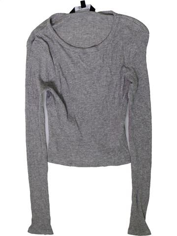 T-shirt manches longues fille NEW LOOK gris 13 ans hiver #1366616_1