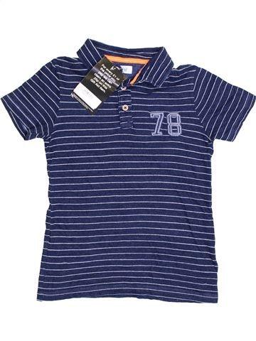 Polo manches courtes garçon F&F bleu 8 ans été #1367062_1