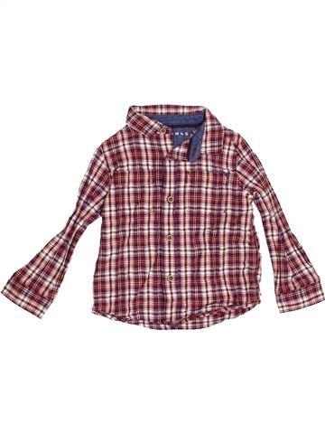 Chemise manches longues garçon NUTMEG violet 3 ans hiver #1367122_1