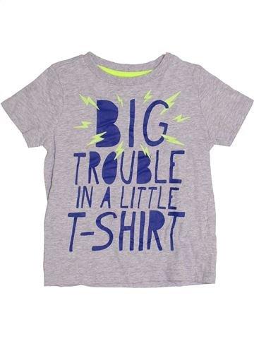 T-shirt manches courtes garçon F&F gris 4 ans été #1367159_1