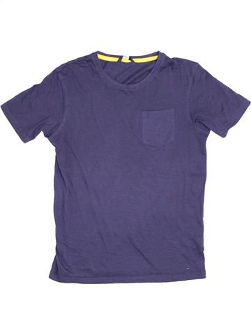 T-shirt manches courtes garçon GEORGE violet 14 ans été #1367284_1