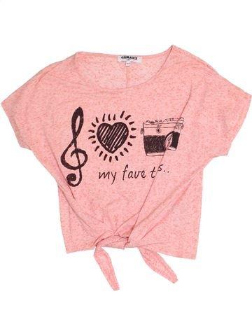T-shirt manches courtes fille NEW LOOK rose 13 ans été #1367302_1