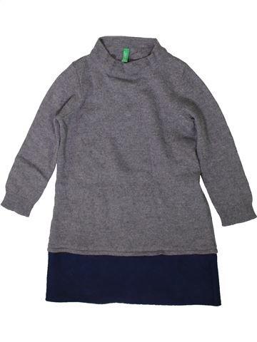 Vestido niña BENETTON gris 2 años invierno #1367486_1
