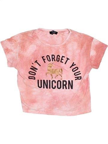 T-shirt manches courtes fille NEW LOOK rose 13 ans été #1367692_1