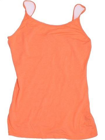 T-shirt sans manches fille MISS E-VIE orange 14 ans été #1367961_1