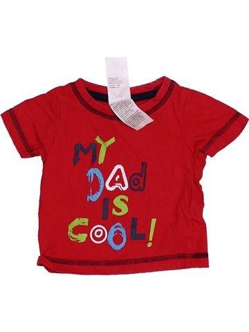 T-shirt manches courtes garçon BABY rouge 3 mois été #1368108_1