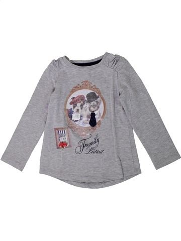 T-shirt manches longues fille MAYORAL gris 4 ans hiver #1368114_1