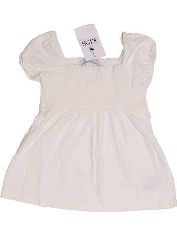 T-shirt manches courtes fille MARKS & SPENCER blanc 4 ans été #1368133_1