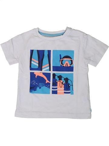 T-shirt manches courtes garçon OKAIDI blanc 2 ans été #1368292_1