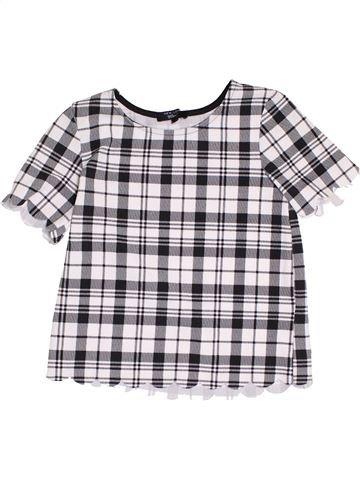 T-shirt manches courtes fille NEW LOOK blanc 13 ans été #1368394_1