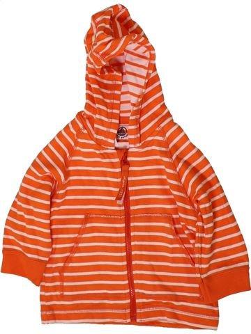 Gilet garçon PETIT BATEAU orange 12 mois été #1368597_1
