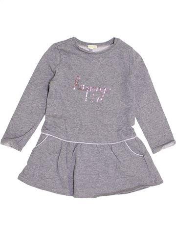 Vestido niña VERTBAUDET gris 4 años invierno #1368891_1