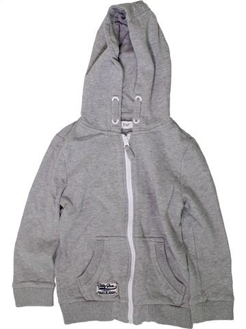 Sweat fille F&F gris 7 ans hiver #1368918_1
