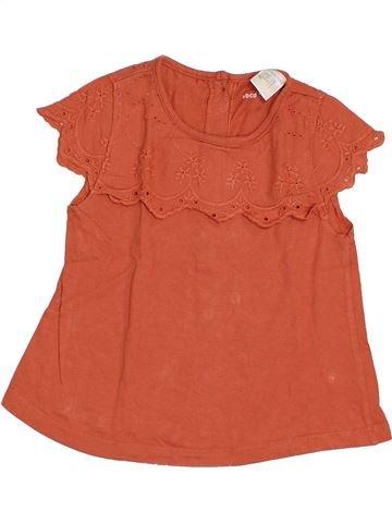T-shirt manches courtes fille LA REDOUTE CRÉATION rose 3 ans été #1368999_1