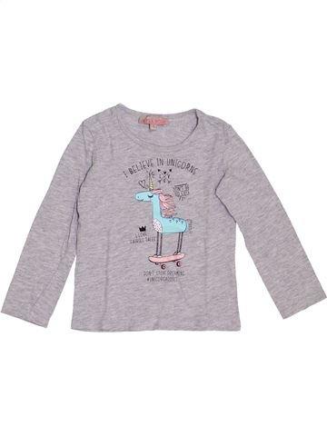 Camiseta de manga larga niña LISA ROSE gris 3 años invierno #1369001_1