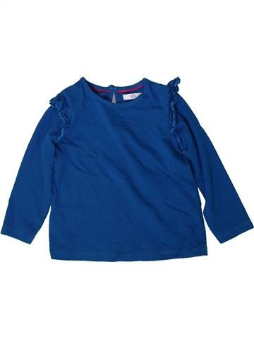 T-shirt manches longues fille MARKS & SPENCER bleu 2 ans hiver #1369107_1