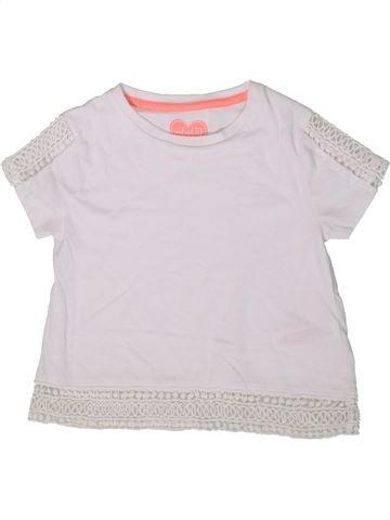 T-shirt manches courtes fille F&F blanc 7 ans été #1369489_1