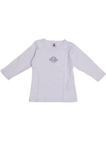 T-shirt manches longues garçon PETIT BATEAU gris 2 ans hiver #1369511_1