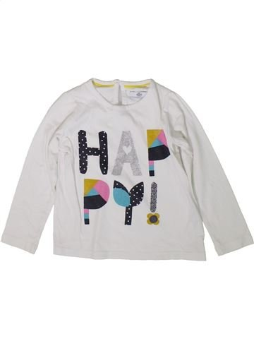 T-shirt manches longues fille MARKS & SPENCER blanc 3 ans hiver #1369515_1