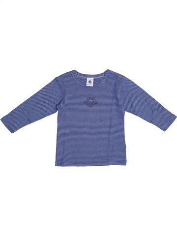 Camiseta de manga larga niño PETIT BATEAU azul 2 años invierno #1369522_1